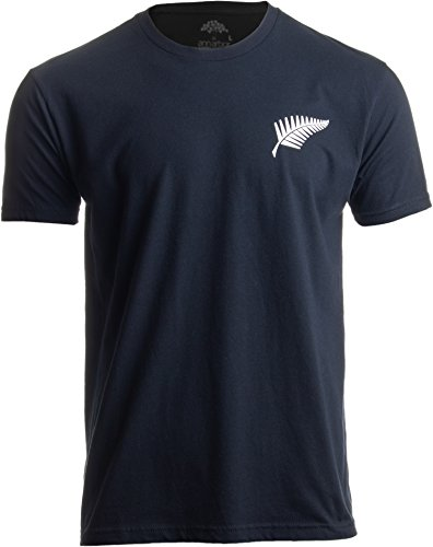 All Blacks Rugby Jersey - New Zealand Pride | Kiwi Silver Fern Southern Cross Men Women Black T-Shirt-(Adult,M)