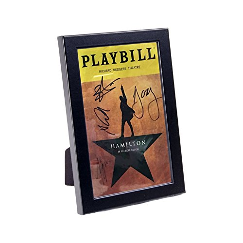 CreativePF [QBCJ-5.5x8.5bk] Black Theatre Playbill Frame - Displays 8.5 by 5.5 inch Media Collection, Easel Stand and Wall Hanger Included (Playbill not Included)