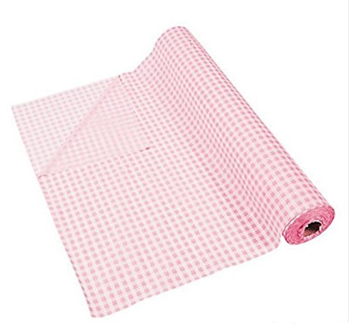 "100' X 40"" Light Pink Gingham Tablecloth Roll - Party Tableware & Table Covers"
