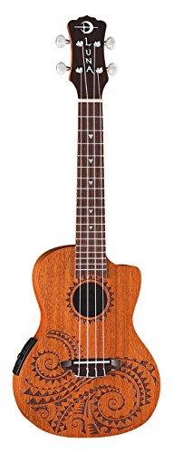 Luna Mahogany Concert Acoustic Electric Ukulele product image