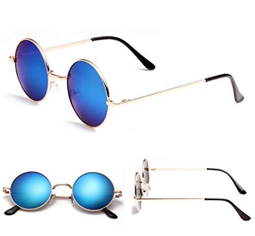 Pesca Marco de de Redondo Hombres Mujeres Conducción de hombres de Sol viajar Golden Gafas Gafas Decoración Protección Gafas de Sol los Moda para UV400 wxpCIq0nyT