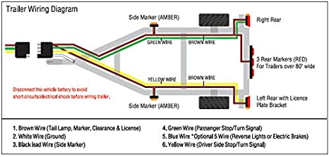41aSf1G1dIL._SX466_ amazon com shoreline marine 4 way trailer wire harness (25 feet boat trailer wiring diagram at gsmx.co