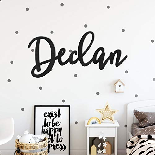 NA Custom Wood Name Sign for Nursery Décor Baby Kids Room Wall Decor Art Hanging Personalized Plaque Painted Above a Crib Cutout