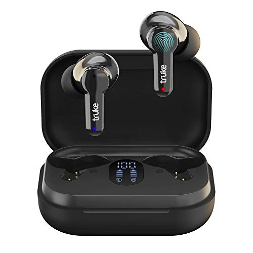truke Buds Q1 True Wireless Earbuds with Environmental Noise Cancellation(ENC) & Quad MEMS Mic for Clear Call   Dedicated Low Latency Gaming Mode   Up to 60hrs of Music Playtime   Bluetooth 5.1   IPX4