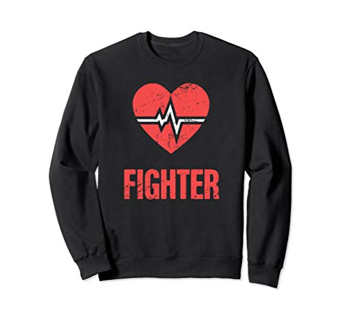 Fighter - Heart Surgery Gift / Open Heart Bypass Surgery Sweatshirt