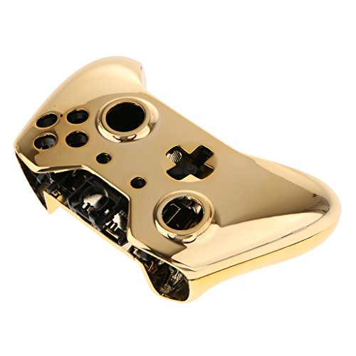 - SM SunniMix Protector Skin Case Arc Handle Grip Shell Faceplate for Xbox One Controller, Chrome Gold