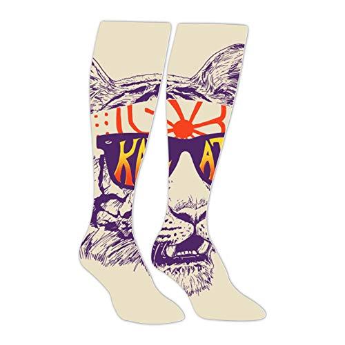 (Long Stockings Sport Sunglasses Tiger Tube Knee High Socks Athletic Sports Leggings Socks for Man Women)
