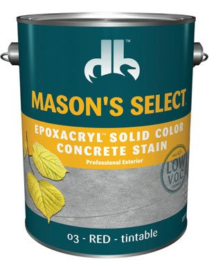 Mason'S Select Solid Color Concrete Stain Acrylic Exterior, Interior Red Base 3 1 Gl