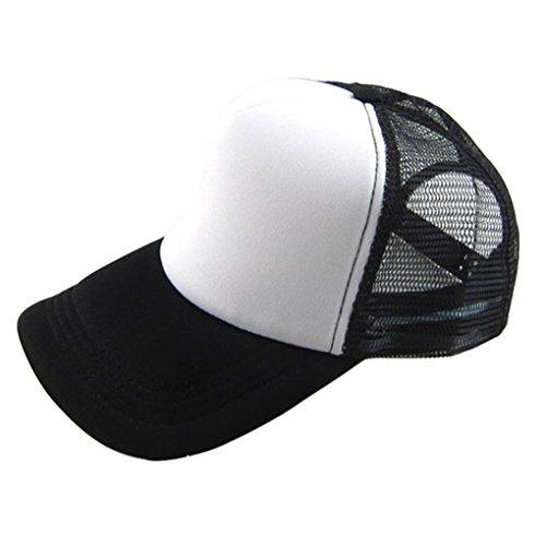 Baseball Hat,Haoricu 2017 Summer 12 Color Unisex Casual Hat Solid Baseball Cap Trucker Mesh Adjustable Hat (L)