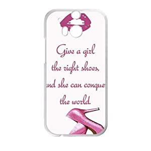Happy Pink high-heeled shoes Cell Phone Case for HTC One M8