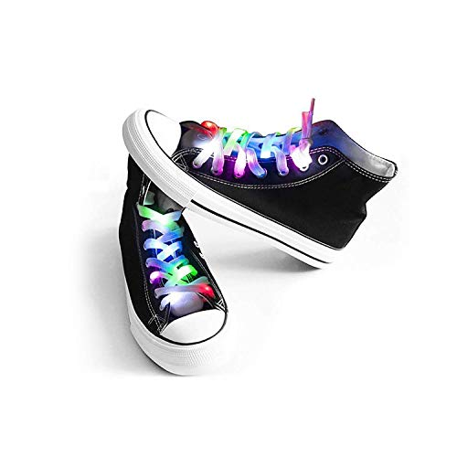 Mrupoo LED Light Multicolor Shoelaces Battery Powered Nylon