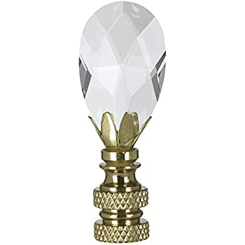 Multi faceted swarovski crystal ball lamp shade finial amazon royal designs teardrop crystal lamp finial for lamp shade polished brass mozeypictures Choice Image