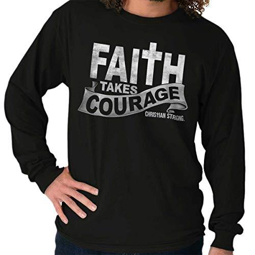 Faith Courage Religious Jesus Christian Long Sleeve T Shirt