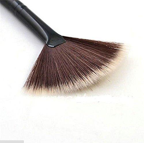 Velishy (TM) forma de ventilador cepillo de maquillaje Mezcla subrayador Face Contour–Brocha para polvos Velishy-HB-1434