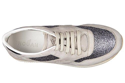 Hogan BabyschuheSneakers Kinder Baby Schuhe Mädchen Wildleder Turnschuhe j222 a