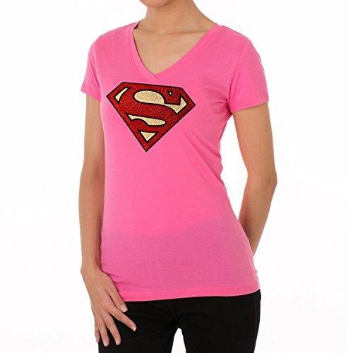 alt creation Multi-Color Soft Metallic Foil Superman Design Women's T Shirts for $<!--$21.99-->