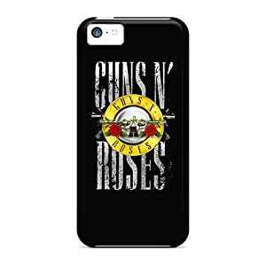 Shock Absorbent Cell-phone Hard Cover For Iphone 5c With Custom Vivid Guns N Roses Pattern AlissaDubois