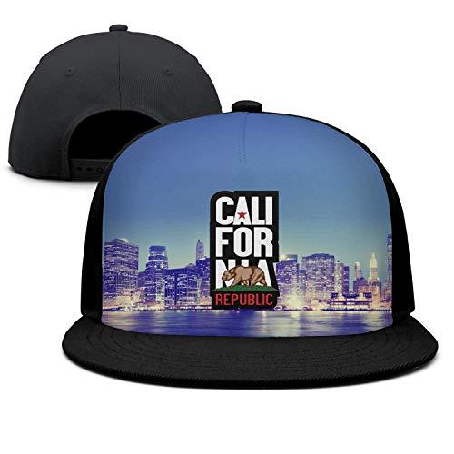 IVTHJYHP California Republic Bear Symbol California Black Unisex Women Men Best Hip Hop Cotton Baseball Strapback Cap Hat]()