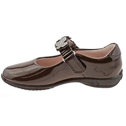 Lelli Kelly LK8309 (DJ01) Love Brown Patent School Shoes F Fitting-25 (UK 7)