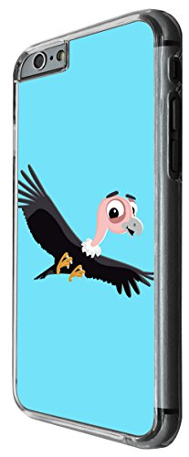 1134 - Cute Fun Bird Animal Drawing Blue Design For iphone 6 6S 4.7'' Fashion Trend CASE Back COVER Plastic&Thin Metal -Clear