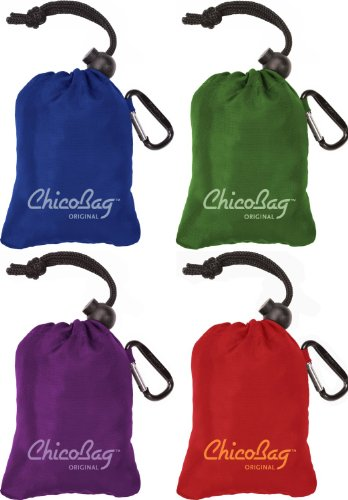 ChicoBag-Original-Reusable-Shopping-Tote-Grocery-Bag-Variety-4-Pack-Blue-Green-Purple-and-Red