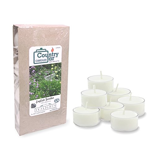 Garden Scents Candle Soy (Country Jar English Garden Soy Tea Lights Candle (8-Pack) .75 oz. ea. [+] Special! 3 for $21.50! 4 for $26.50!)