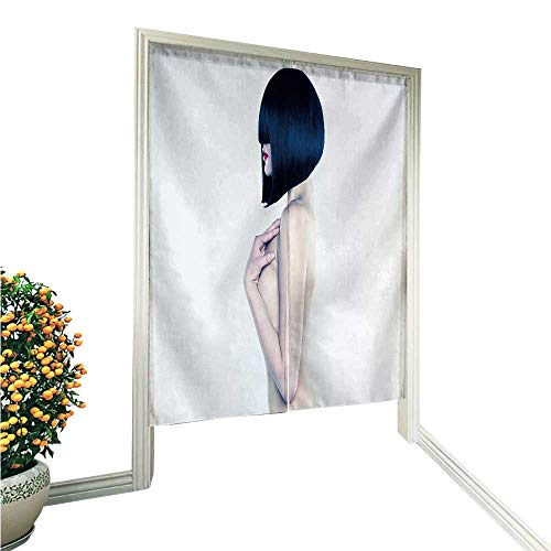 Doorway Curtain Noren Nude Woman with Short Stylish