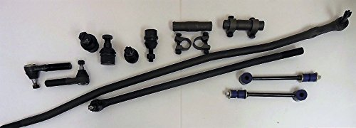 12 Pcs. Kit 2 Upper 2 Lower ball joints 2 Outer 2 Inner Tie Rod Ends 2 Adjusting Sleeves 2 Stabilizer links 4WD Vehicles ()