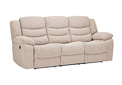 Enjoyable Oak Furniture Land Grayson 3 Seater Electric Recliner Sofa Oatmeal Fabric Pabps2019 Chair Design Images Pabps2019Com