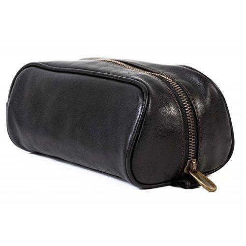 Bosca medium travel shave kit, Tacconi collection black by Kaliandee