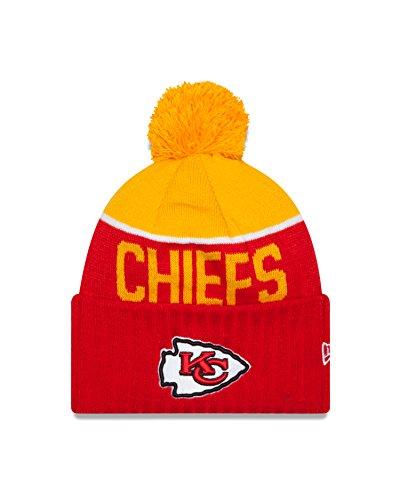 Kansas City Chiefs New Era 2015 NFL Sideline On Field Sport Knit Hat (New Era Chiefs Beanie)