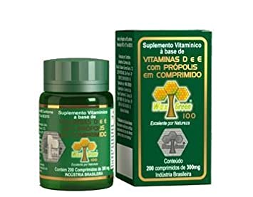 Wax Green Vitamin C & E with Propolis 200tablets by BrazilBeePropolis