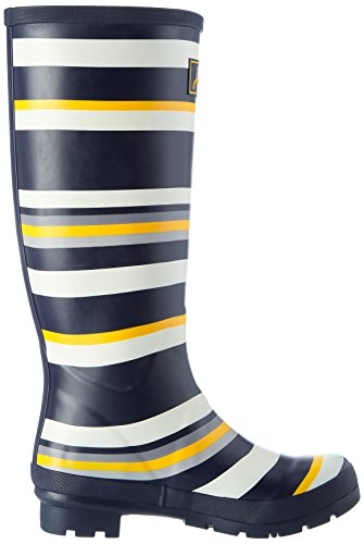 Stripe Black Multicolour Boots Medium Women's Multi Wellington Wellyprint Joules Sfxaq88