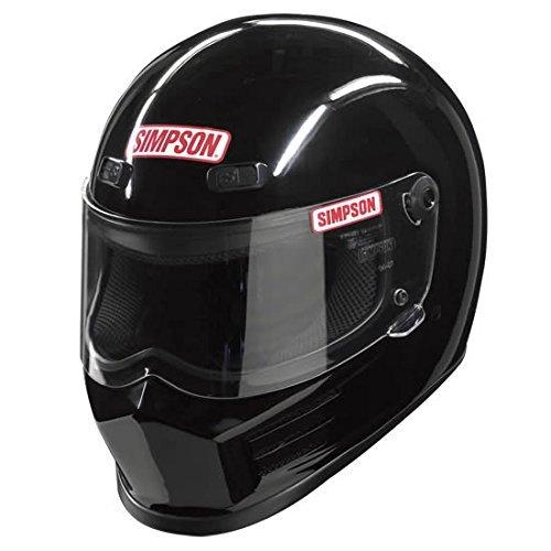 Simpson MSB15M2 Street Bandit - Casco de Moto (Talla M), Color Negro