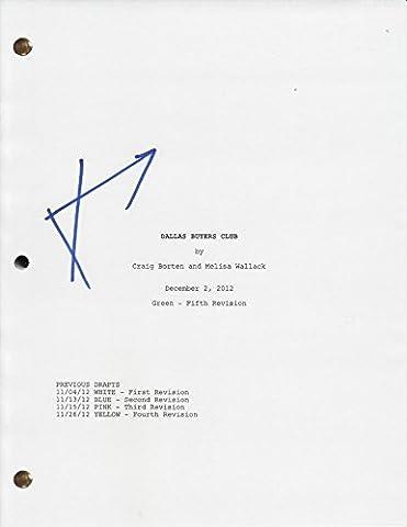 Jared Leto Dallas Buyers Club Autographed Signed Full Movie Script Screenplay (Dallas Buyers Club Screenplay)