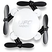 Owill 2.4G 3D-Flip 6-axis Gyro One Key Return Mini Foldable Quadcopter 360°Turn Over Aircraft (White)