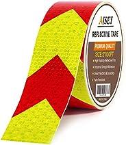 Cinta reflectante impermeable de alta visibilidad roja y amarilla, cinta de marcado industrial de alta resiste