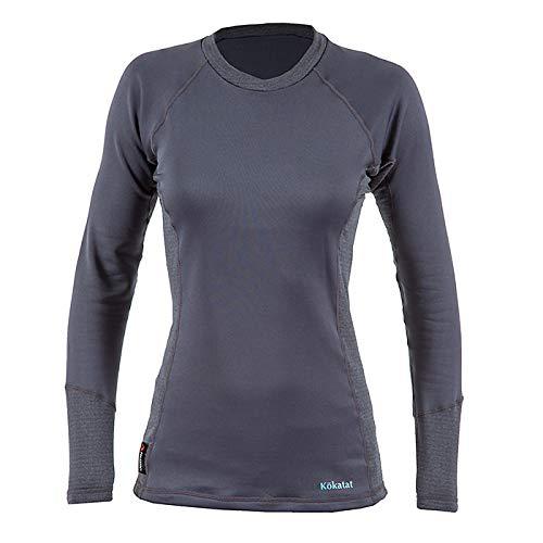 Kokatat Women's Polartec Power Dry Outercore Long Sleeve Shirt-Coal-L by Kokatat