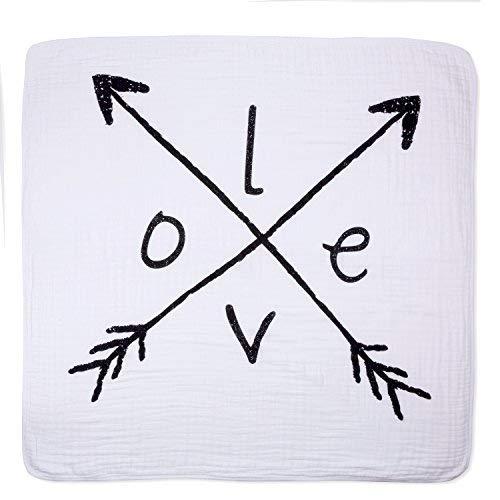 aden + anais Dream Blanket | Boutique Muslin Baby Blankets for Girls & Boys | Ideal Lightweight Newborn Nursery & Crib Blanket | Unisex Toddler & Infant Bedding, Shower & Registry Gift, Lovestruck