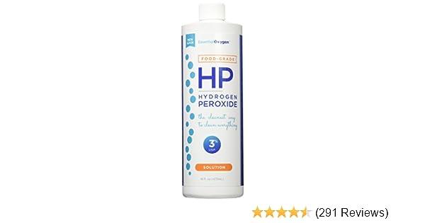 Essential Oxygen Plus Hydrogen Peroxide 3% Food Grade, 16 Ounce