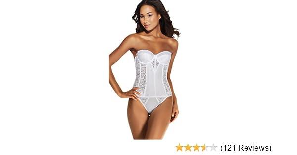 7ba5aaabfdc Dominique Colette Lace Corset Bridal Longline Bra (8949) at Amazon Women s  Clothing store