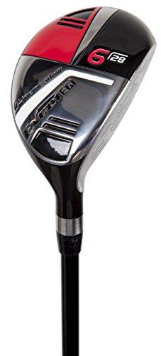 (Pinemeadow Golf Men's Excel EGI Hybrid Club, Graphite, 28-Degree, 6, Regular, Right)