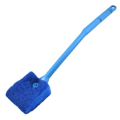 Water & Wood Aquarium Fish Tank Double Sided Sponge Cleaning Brush Cleaner Scrubber Yale Blue