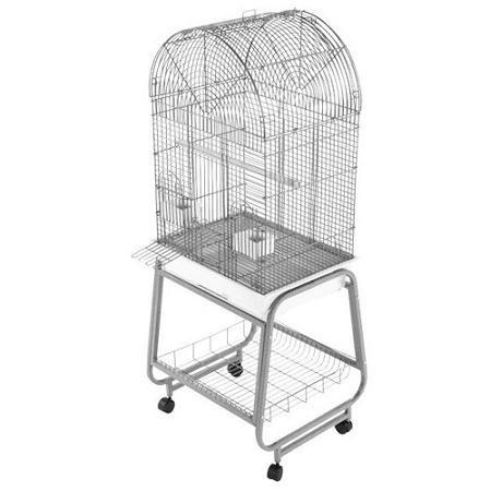 Aande Bird Cages Aande Cages-open Top Dome Bird Cage – Black, My Pet Supplies