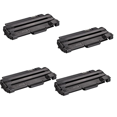 Compatible Toner to replace Dell 330-9523 (7H53W) High Yield Black Toner Cartridge for your Dell 1130,1135 Printer-4 Pack