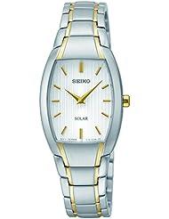 Seiko Womens SUP260 Analog Display Analog Quartz Two Tone Watch
