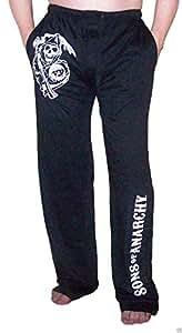 SOA Sons of Anarchy Jumbo Reaper Logo Men's PJs Pajamas Lounge Pants (Small)