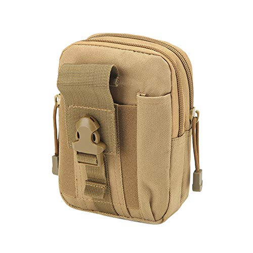 SegRJ: Riñonera táctica para escalada al aire libre, EDC, bolsa de cintura para teléfono militar, color verde militar, color negro, tamaño talla única: ...