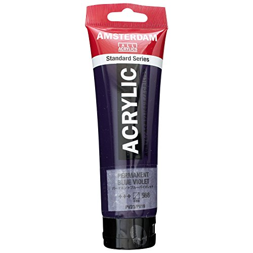 AMSTERDAM ACRYLIC 120ML PERMANENT BLUE VIOLET SINGLE TUBE