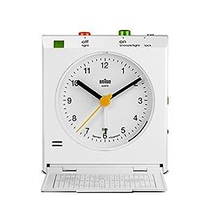 Braun – Despertador de viaje clásico con detector de movimiento, BNC005WHWH , color blanco 13